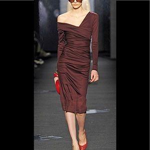 Diane Von Furstenberg Bentley rushed wool dress